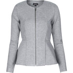 Topshop Slim Peplum Zip Jacket