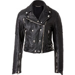 Burberry Brit Cropped Leather Motorcycle Jacket