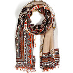Etro Cashmere Blend Mixed Print Scarf