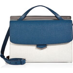 Fendi Colorblock Leather Demi Jour Convertible Satchel