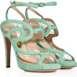 Aperlai Suede Studded Stiletto Sandals