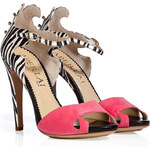 Aperlai Suede/Embossed Leather Studded Sandals
