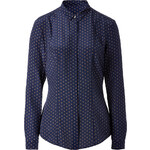 Burberry London Silk Polk Dot Print Shirt