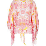 Roberto Cavalli Silk Printed Caftan