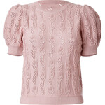 RED Valentino Knit Cotton Puff Sleeve Top