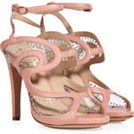 Aperlai Leather Studded Stiletto Sandals