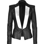 Faith Connexion Leather Tuxedo Blazer