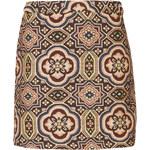 Topshop Folk Jacquard A-Line Skirt