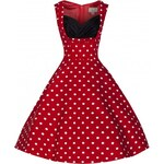 Retro šaty Lindy Bop Ophelia Red Polka