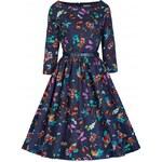 Retro šaty Lindy Bop Holly Butterfly 42
