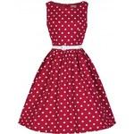 Retro šaty Lindy Bop Audrey Red Polka 40