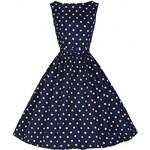 Retro šaty Lindy Bop Audrey Navy Polka