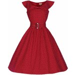 Retro šaty Lindy Bop Hetty Red Polka 36