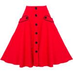 Retro/vintage sukně Voodoo Vixen Red June L