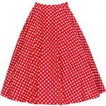 Retro sukně Lindy Bop Red Polka vel. 42