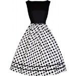 Retro šaty Lindy Bop Audrey Mono BW vel. 46