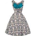 Retro šaty Lindy Bop Ophelia Victorian Floral 40