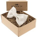 Pánský motýlek MRS BOW TIE White Duchess Satin