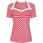 Retro top Lindy Bop Rosaline Red Stripe 42