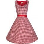 Retro šaty Lindy Bop Nancy Red 48