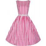 Lindy Bop Audrey Pink Stripe 38