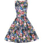 Retro šaty Lady V London Kingfisher Tea