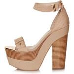 Topshop LARK Metal Platform Shoes