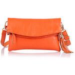 LightInTheBox Mega Leather Hand Bag Ladies Clutch Bag Packet Chain Single Shoulder Female (Orange)