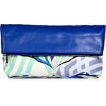Emilio Pucci Leather Fold-Over Clutch