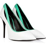 Giuseppe Zanotti Leather Pointy-Toe Pumps with Contrast Trim