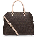 Kabelka Michael Kors Cindy dome logo brown medium