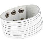 LightInTheBox Retro Punk Style Fashionable Stripe Design Bracelet (White)