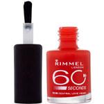 Rimmel London 60 Seconds Nail Polish 8ml Lak na nehty W - Odstín 800 Black Out