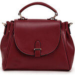 LightInTheBox POLO Fashion English Style Solid Color Crossbody Bag(Wine)