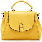 LightInTheBox POLO Fashion English Style Solid Color Crossbody Bag(Yellow)