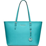 Kabelka Michael Kors jet set travel saffiano leather aquamarine
