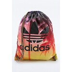 Adidas Palm Print Gym Bag in Turquoise