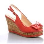 MODERN WORLD Sandálky na klínku MD7037-5R Velikost: 38