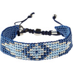 Cecil - Bracelet en mini-perles - faded denim,