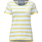 Cecil - T-shirt à rayures mélangé - pastel yellow,