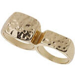 Topshop Strukturierter Ring in Schlagringoptik - Gold