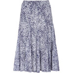 Marks and Spencer Burnout Petal Print A-Line Skirt