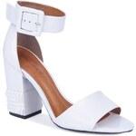 Gino Rossi - Sandály na podpatku - bílá