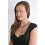 JwL Jewellery Náhrdelník z velkých pravých perel v hnědém tónu JL0069