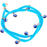 LYRA Náramek s modrými Swarovski krystaly BDV10096P