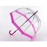 Fulton London Průhledný deštník BIRDCAGE-1 - FLORENCE růžový