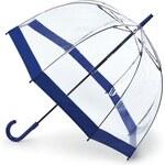 Fulton London Průhledný deštník BIRDCAGE-1 - FLORENCE tm. modrý