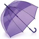 Fulton London Průhledný deštník BIRDCAGE-1 - LAVENDER