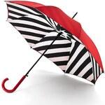 Fulton London Dámský holový deštník Lulu Guinness Bloomsbury-2 DIAGONAL STRIPE