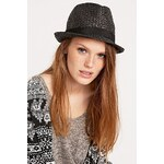 Urban Outfitters Straw Fedora in Black